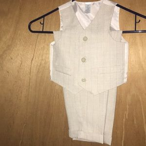BABY BOY TAN TWO PIECE SUIT